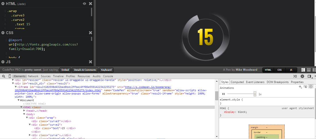 CSS Animation Controls in Chrome Canary