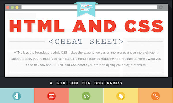 Infographic Ideas infographic animation css : HTML and CSS Cheat Sheet (Infographic)