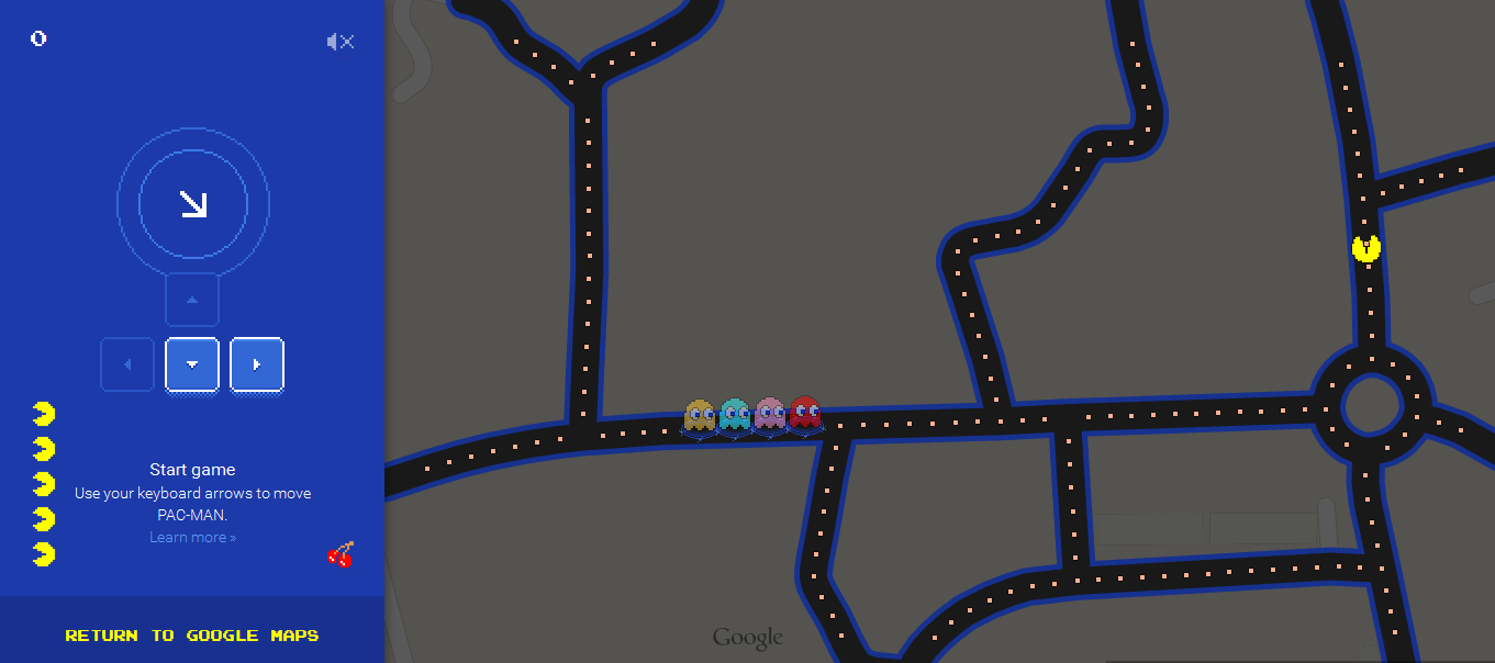 PAC_MAN in Google Maps