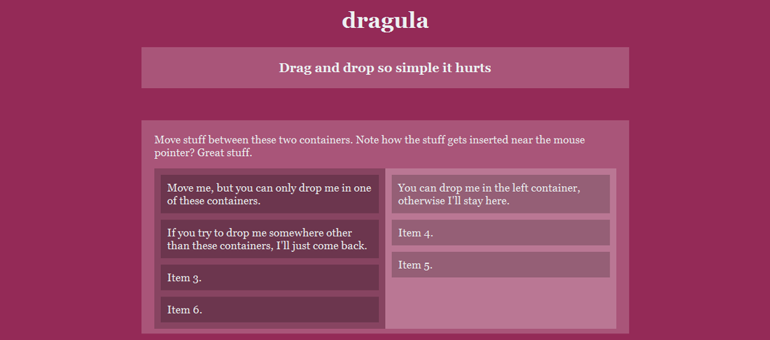Dragula - drag and drop