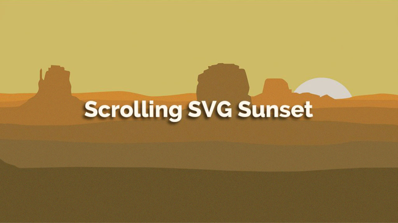 Scrolling SVG Sunset