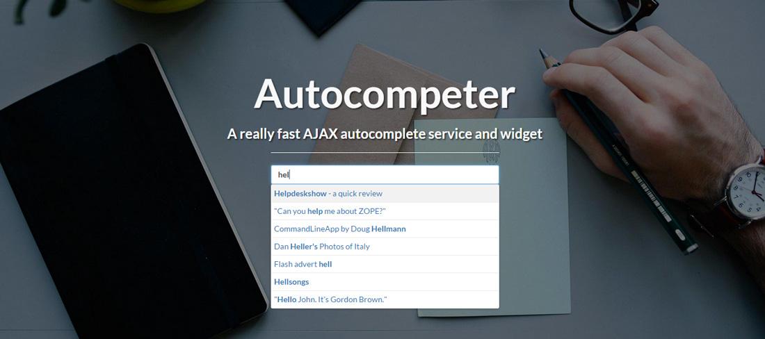 Autocompeter - Auto Complete Search Widget