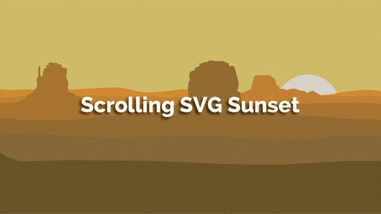 Scrolling SVG Sunset